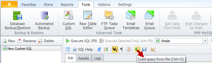 Load query from file