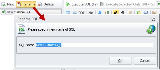 Rename SQL
