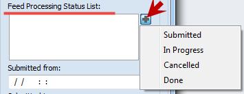Feed processing Status list