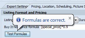 Test Formulas