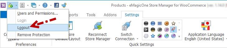 Logout access management