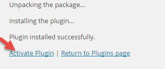 Activate plugin in Admin