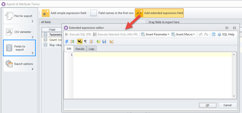 Add extended expression