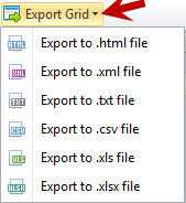 Export Grid