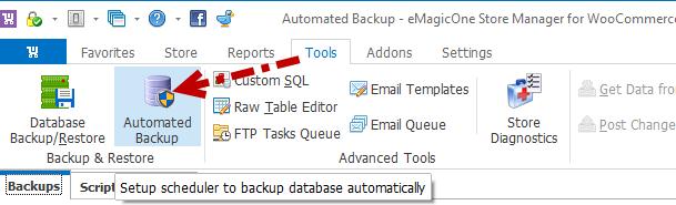 Automated backup
