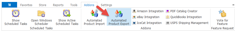 Automated Product Export Addon