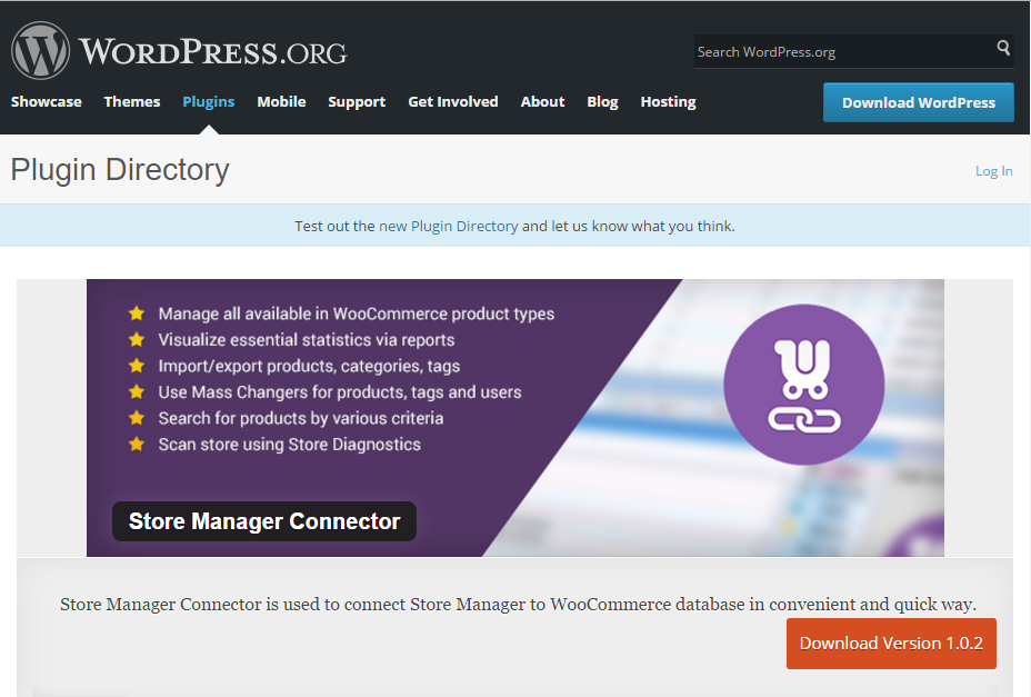 Plugins page of wordpress