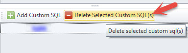 Delete Selected Custom SQL
