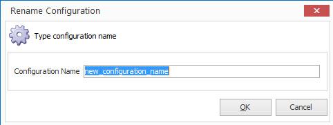 Rename configuration form