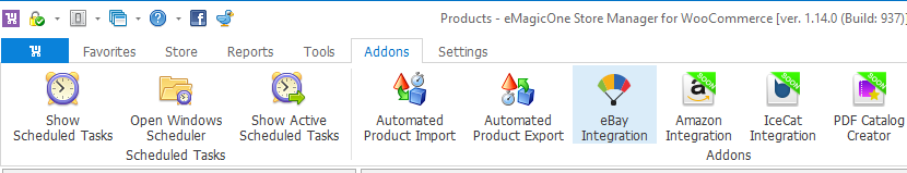 eBay Integration addon