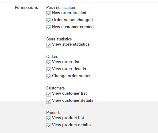 Permissions fields