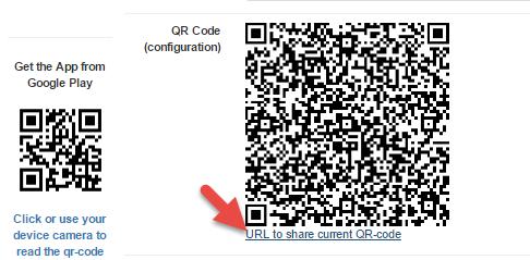 Ger shared QR-code link