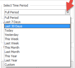 Select time period for filtering