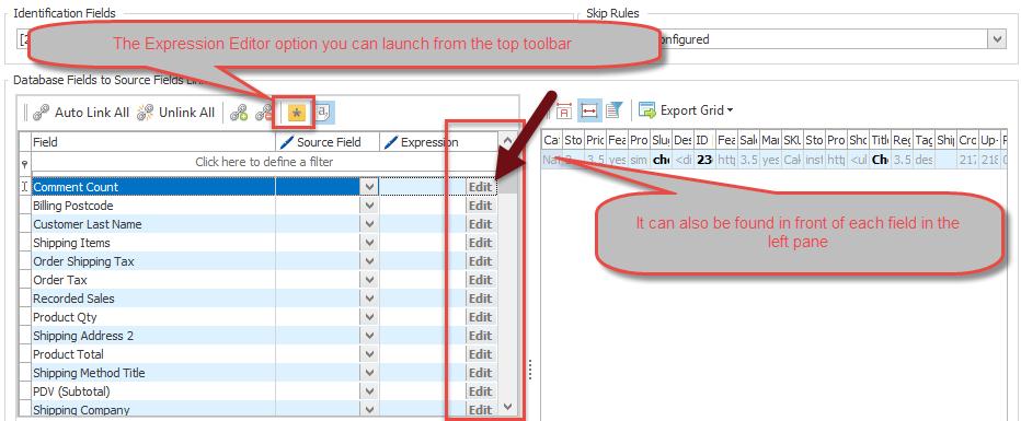 Expression Editor form