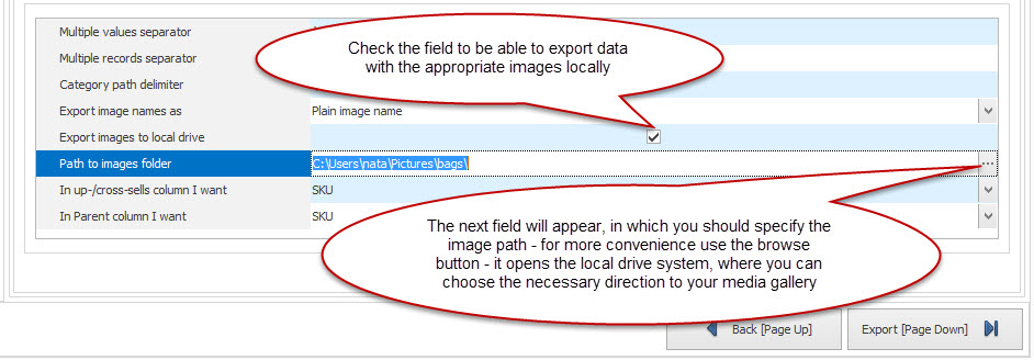Check images checkbox
