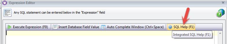 SQL expression formula