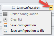Save Configuration field