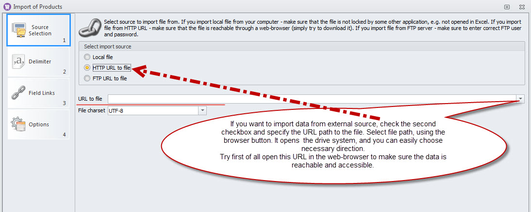 Specify URL path to the file