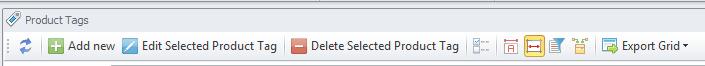 Tags toolbar
