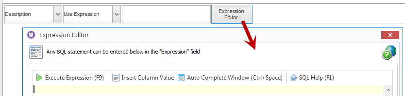 Use expression editor