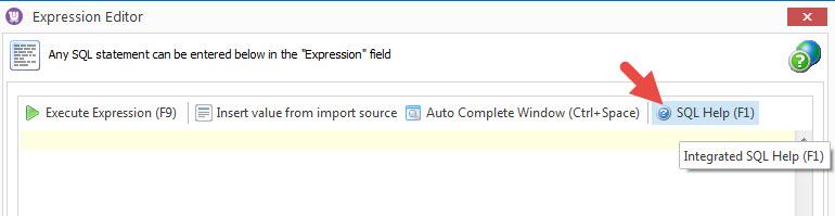 SQL Help button