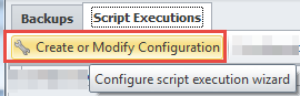 Create or modify script