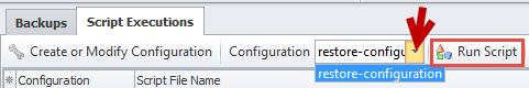 Run Script button