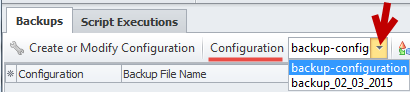 Configuration field