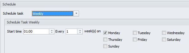 Weekly scheduler