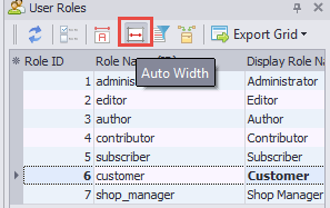 Auto size column width