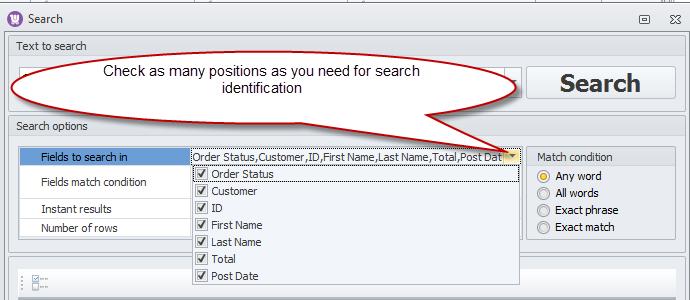 Search Identifiers