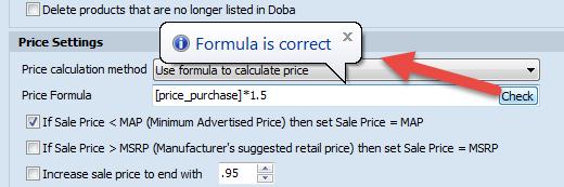 Check formula