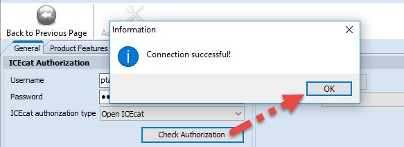 'Check Authorization' button
