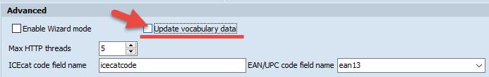 Update vocabulary data checkbox