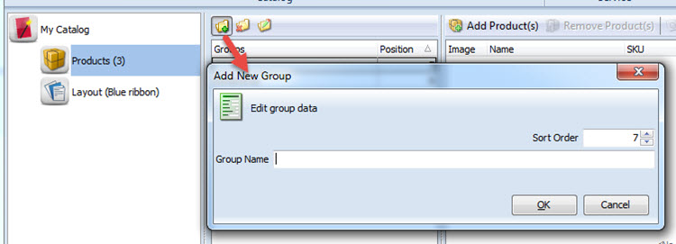 Add new group data
