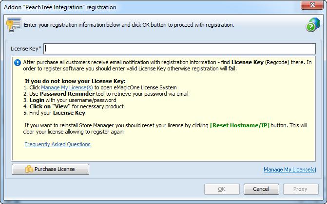 Addon registration key