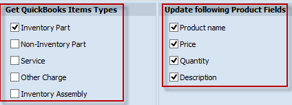 Quickbooks Items Types