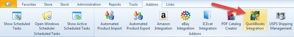 QuickBooks addons section