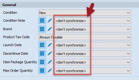 Do not synchronize fields