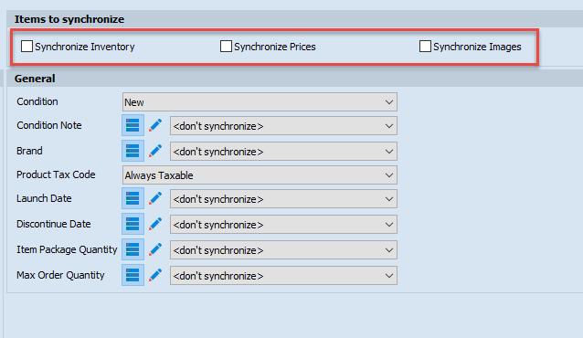 Synchronize checkbox