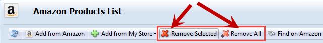 Remove options