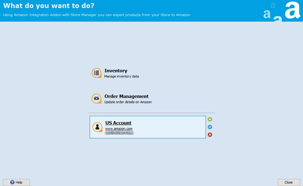 US Account area