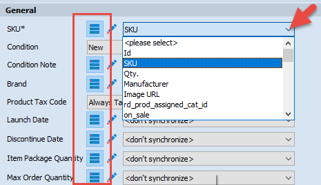 Option from database