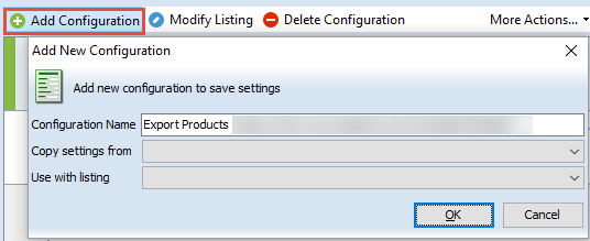 Add new configuration form