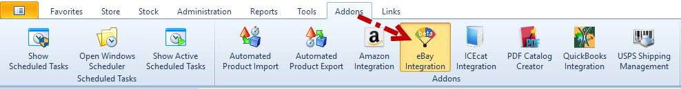 eBay Integration Addon from the Addons section