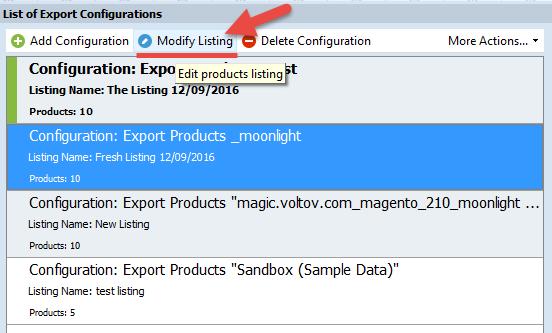 Modify Listing tool