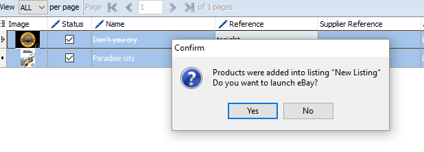 Pop-up message