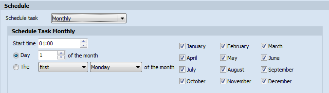 Schedule Task Monthly
