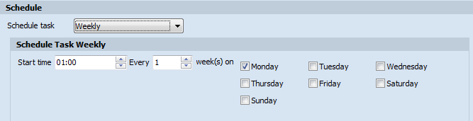 Schedule Task Weekly