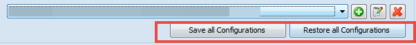 Save and Restore All configurations